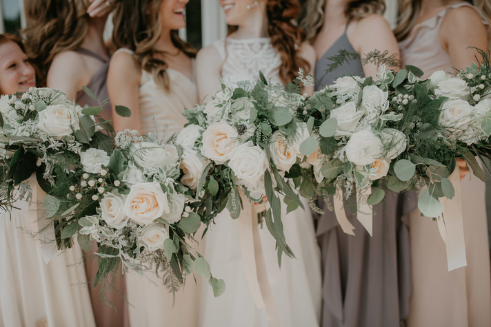 Ivory Meadow Style Bouquets