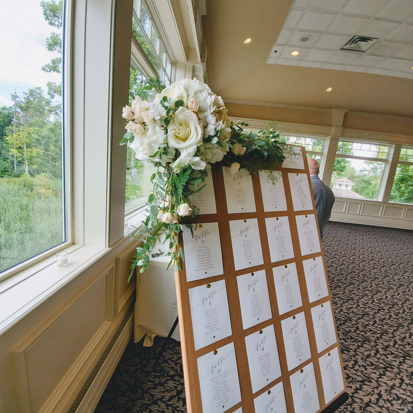 Seating Chart Floral Decoration