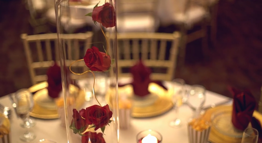 Cylinder with Floating Roses