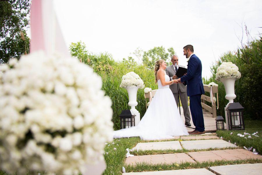 Romantic Flowers, Backyard Wedding