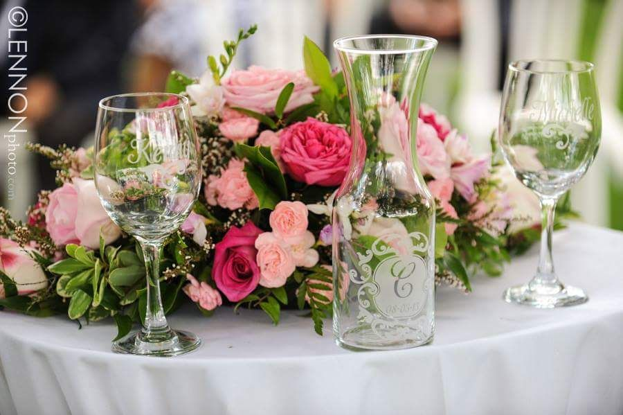 Romantic Ceremony Arrangement with Garden Roses