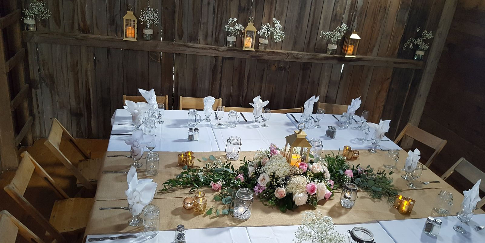 Bridal Party Table, Ellis Barn