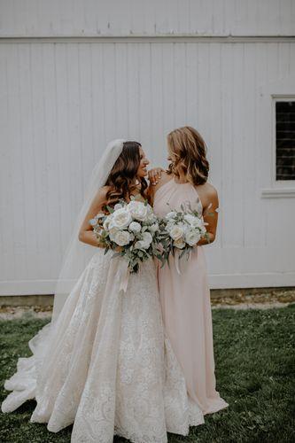 Bride and Bridesmaid, Ellis Barn