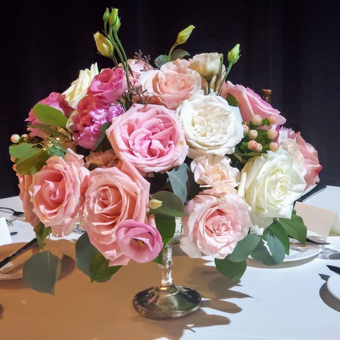 Rose Compote Centerpiece