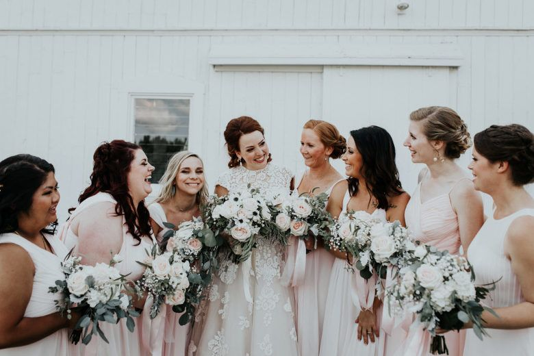 Blush Roses with Anemones and Succulents