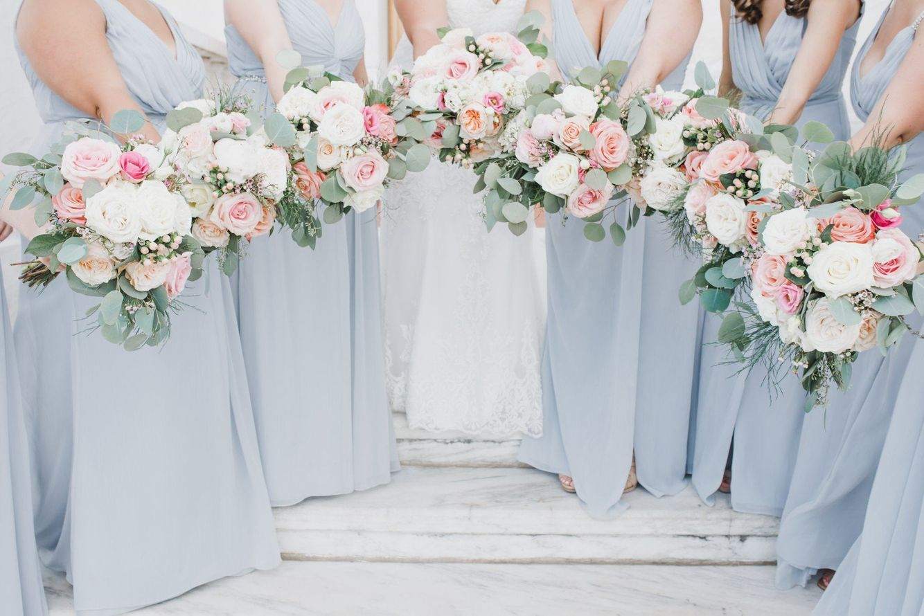 Bridal Party, Roses and Peonies