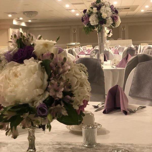 Purple and Lavender Centerpiece