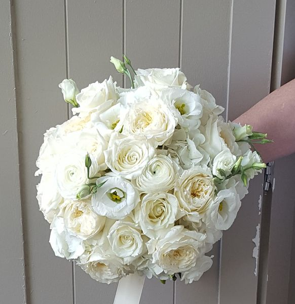 Classic Bridal Bouquet in White at The Carriage House at Pine Knob