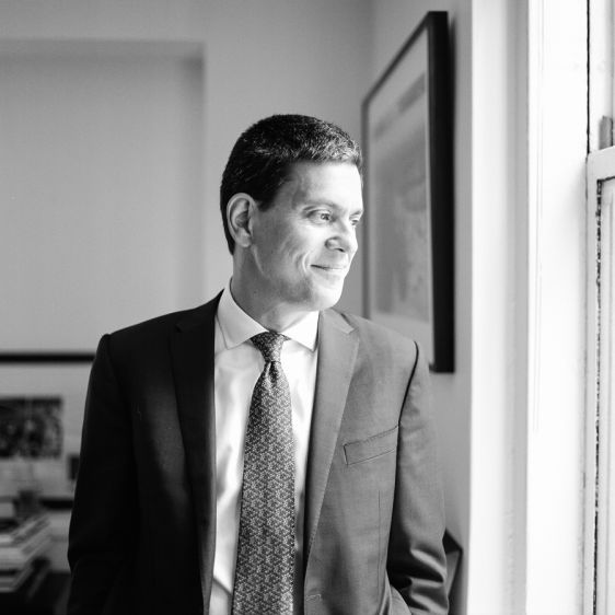 David Miliband, president of the refugee resettlement agency the International Rescue Committee and former British Secretary of State2016In his bustling office in the Channing Building in midtown Manhattan