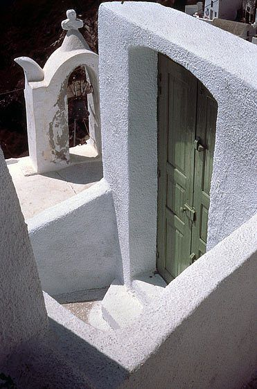 Doorway with Bell Tower, Ioa, Santorini
