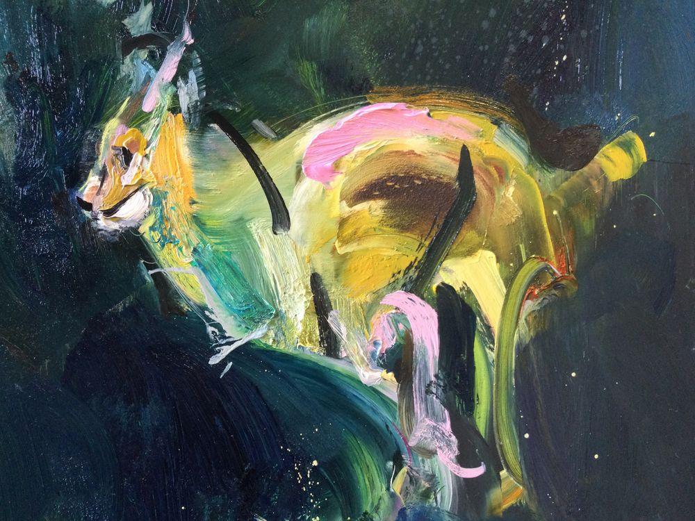 Detail of running lynx