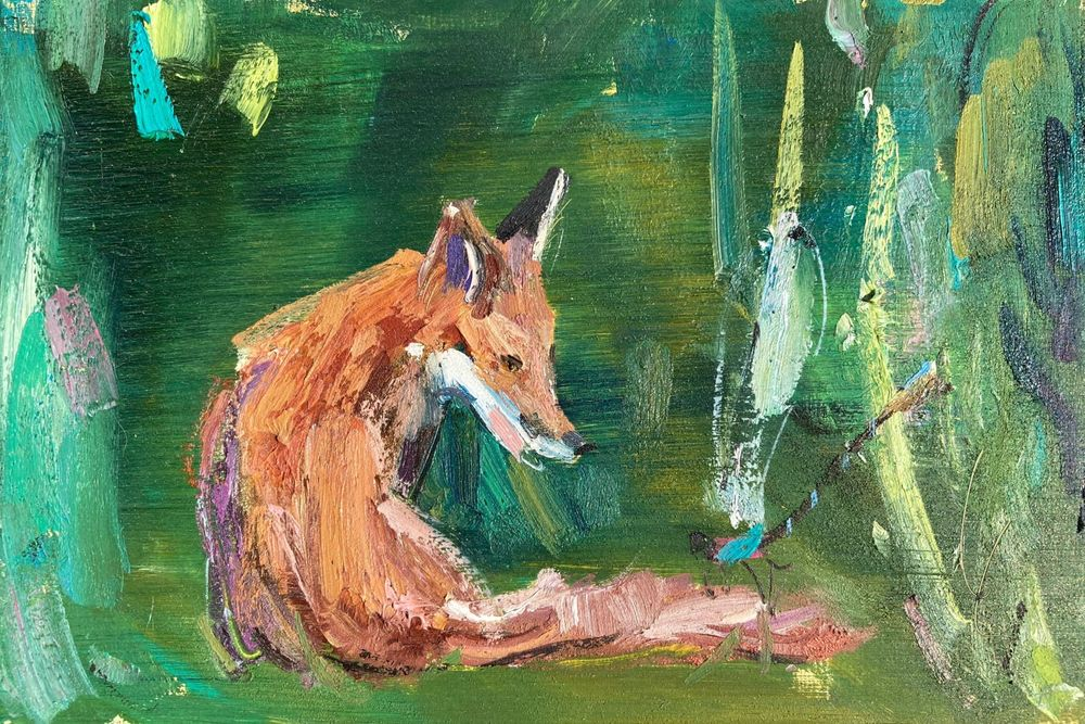 Fox And Dragonfly