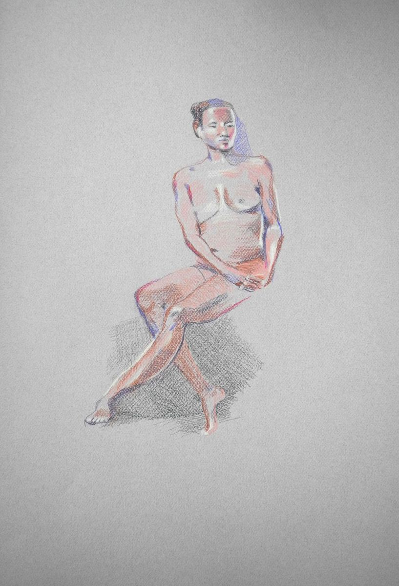 FIGURE STUDY SEATED #1