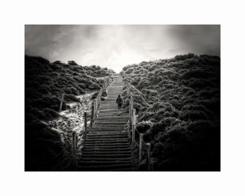 1baker_beach_stair_runner_b_w_16x20