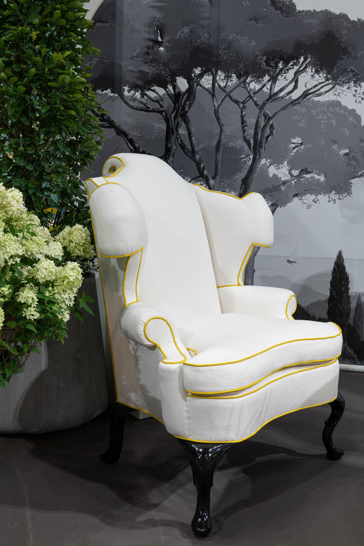 Michael Tavano Scrolling English Wing Chair
