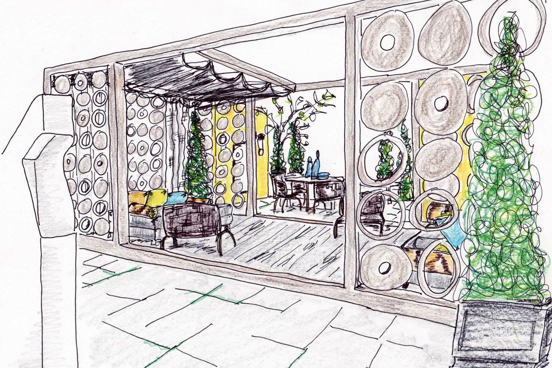 Garden Sketch by Michael Tavano