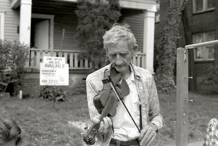Mr. Wallace, Fiddle Maker,  Atlanta, 1977,