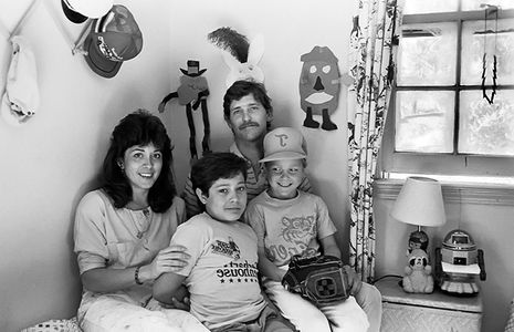 Angie and Family, at home , 1981