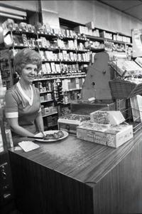 Cashier, Plaza Drugs, Atlanta, 1977.