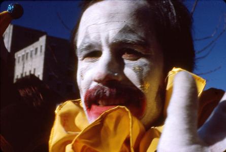 Clown at Mummer's Parade