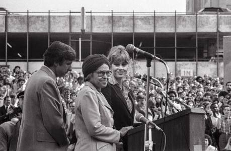 Jane Fonda, Rosa Parks and Tom Hayden, 1979.