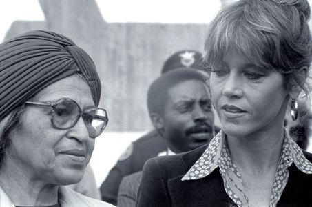 Jane Fonda  & Rosa Parks, 1979
