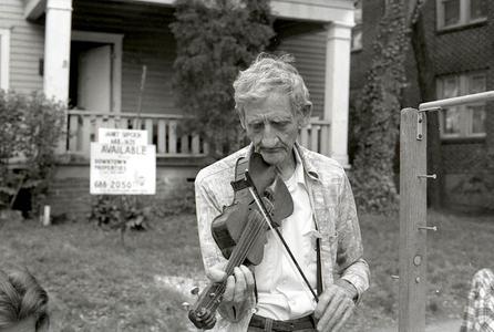 Mr. Wallace, Fiddle Maker,  Atlanta, 1977,
