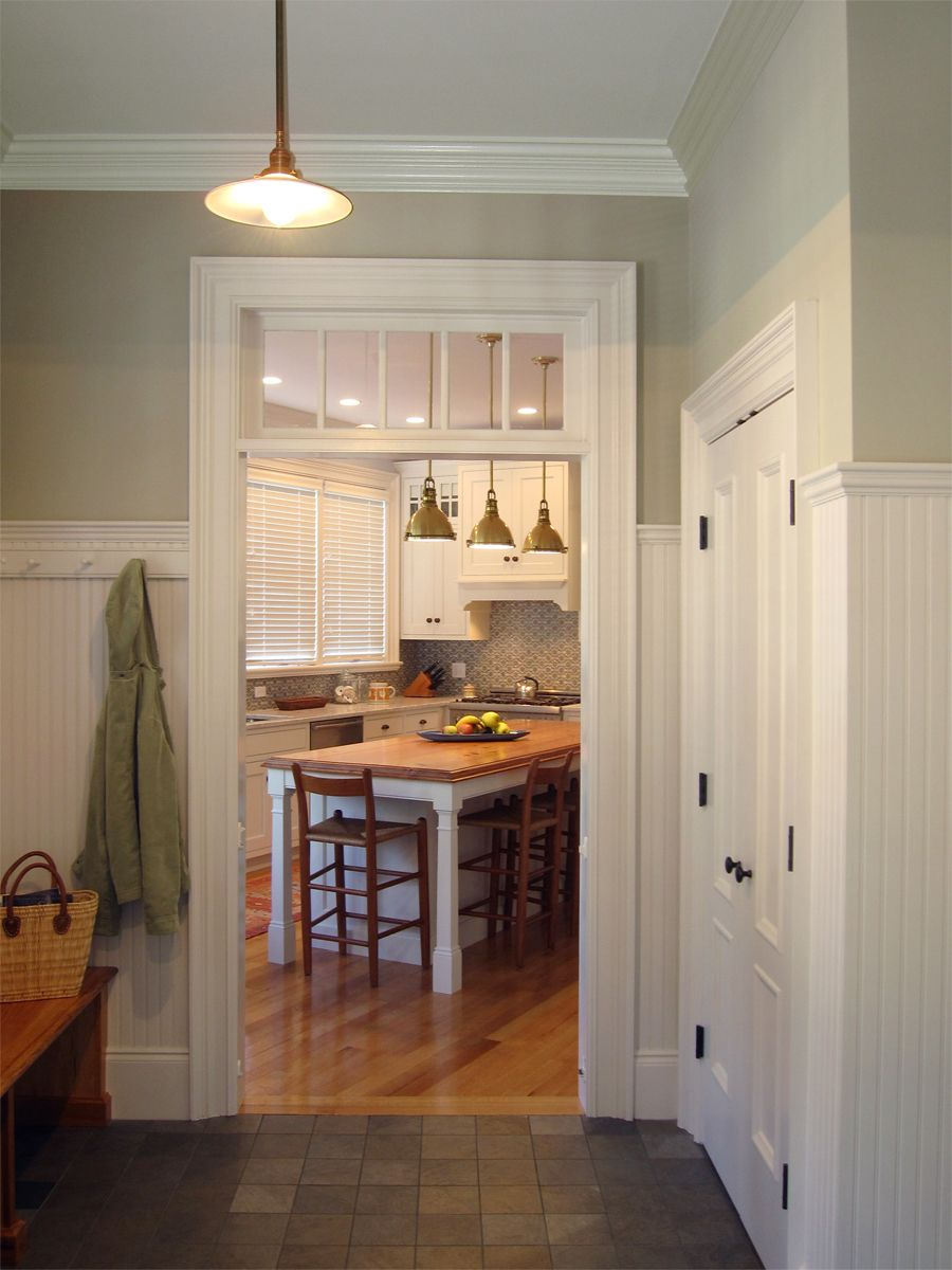 View of kitchen from the mudroom
