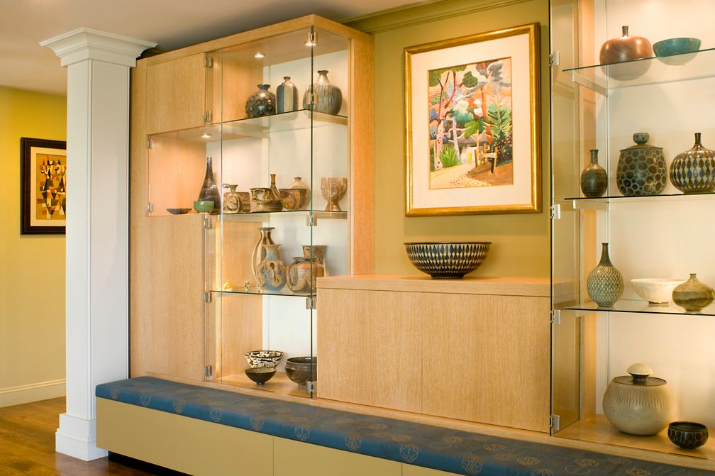 Detail of custom dining room wall unit