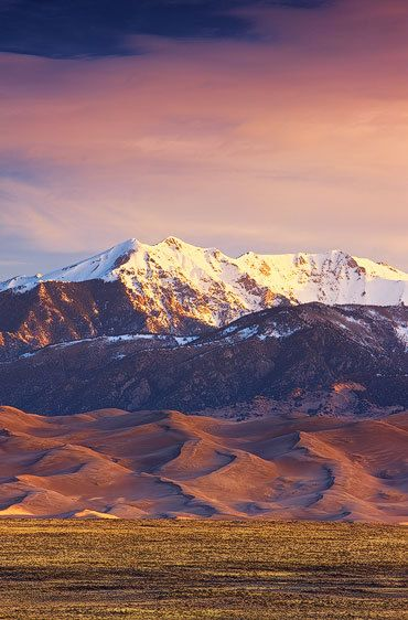 Dunes and Cleveland Peak in Morning Light