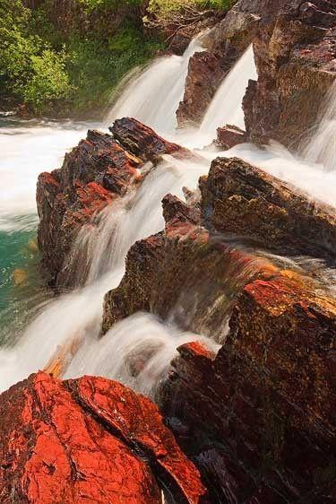 Cascade on Crimson, Red Rock Falls