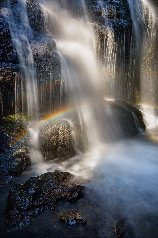 Cascade Falls in Rainbow Light