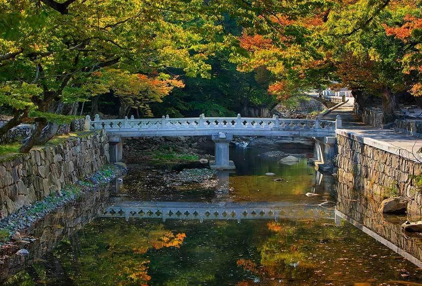 Stonework and Fall Colors, TongDoSa
