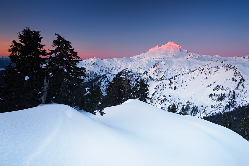Sunrise Glow on Mount Baker from Kulshan Ridge