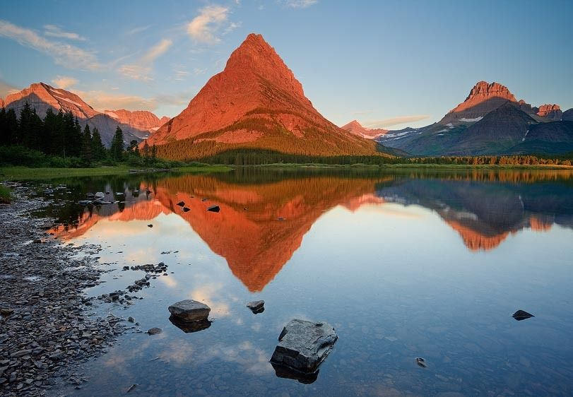 Morning, Swiftcurrent Lake