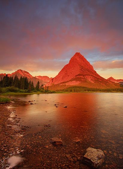 Morning, Swiftcurrent Lake (Vertical)