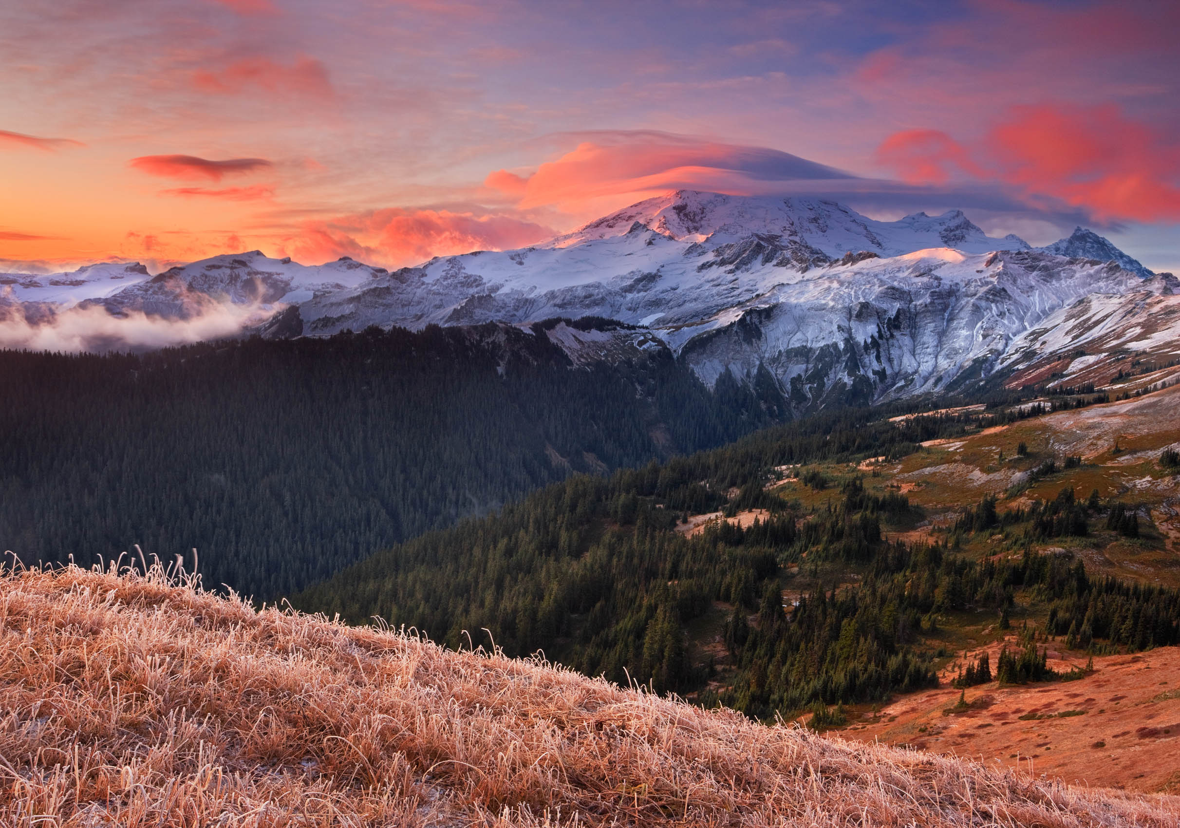 Storm Clears at Sunrise, Mount Baker from the Divide