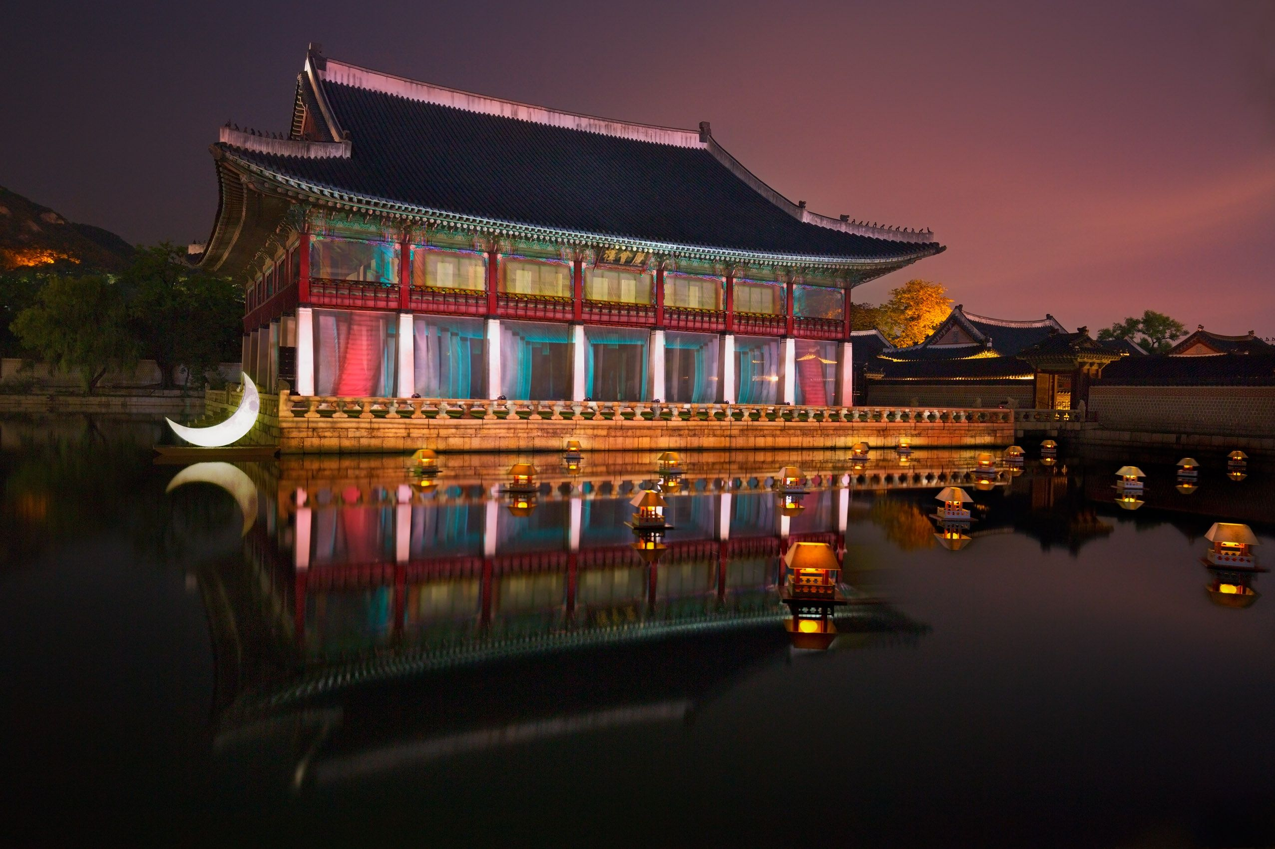 Gyeonghoeru Pavilion, Gyeongbokgung Palace After Dark