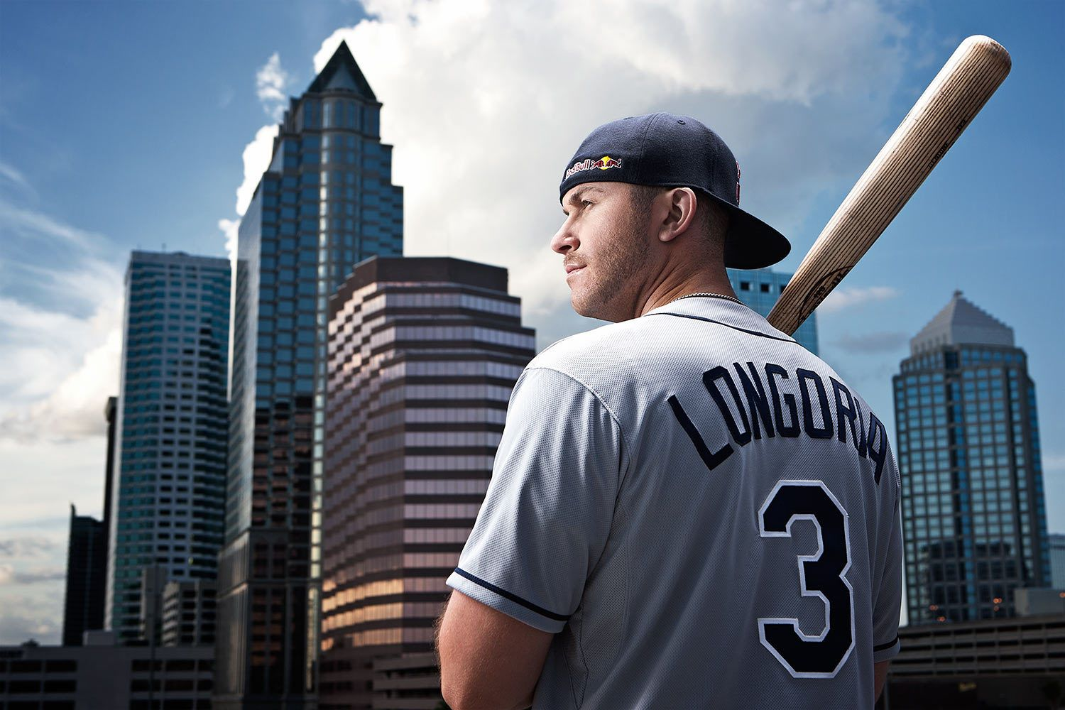 Baseball player Evan Longoria for Red Bull shot in Tampa, FL