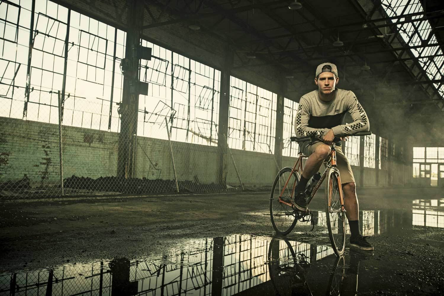 Cyclist Addison Zawada for Red Bull