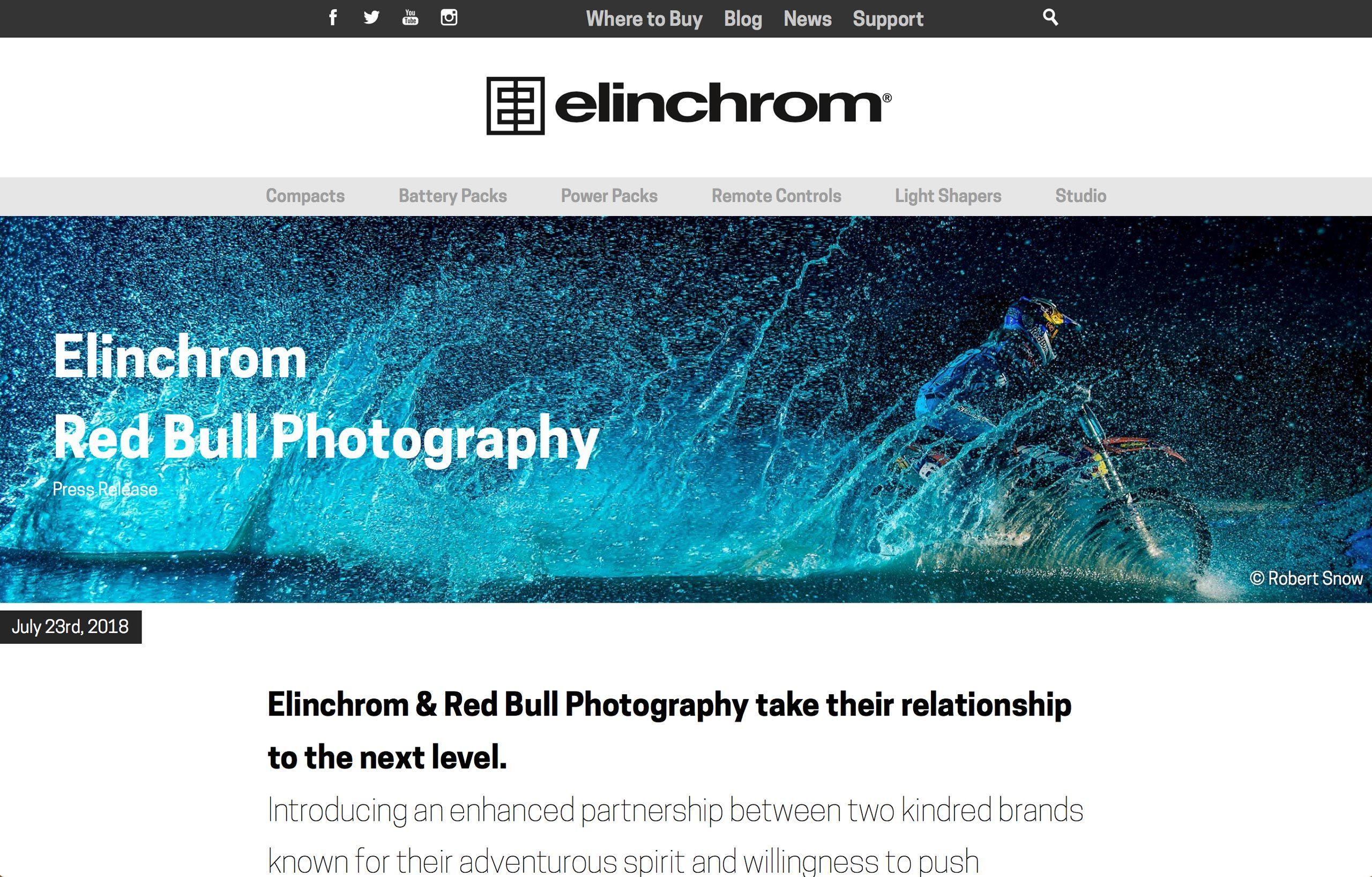 Elinchrom Tear Sheet - Advertising Photography in Orlando, Florida