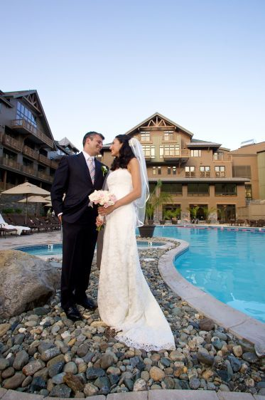 Landwehrle Photography, Stowe Mountain Lode Wedding in Stowe Vermont, Stowe Mountain Lodge wedding,  wedding photo on stowe mountain lodge pool, Bride, Groom, romantic,love,moment,  feature desination fun, Boston Magazine