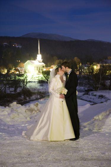 Landwehrle photography winter wedding Stowe VermontStowe Community Church Salon salon Wildflower design