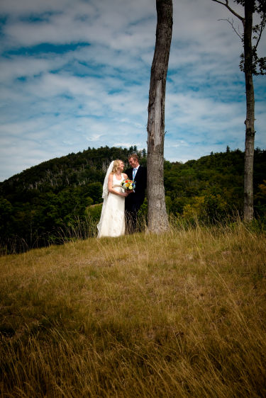 Portraits,Landwehrle Photography, Stowe Mountain Lode Wedding in Stowe Vermont, Stowe Mountain Lodge wedding,  wedding photo on stowe mountain lodge golf course, Bride, Groom