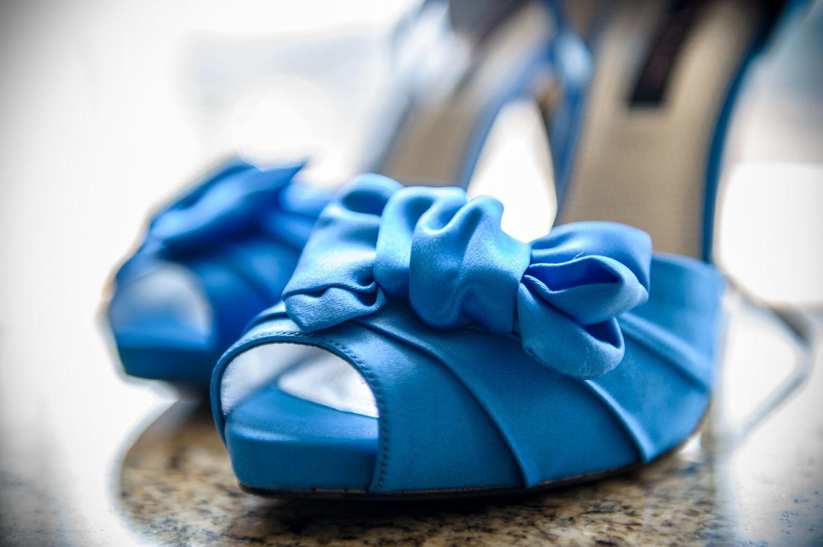 Photography of wedding shoes
