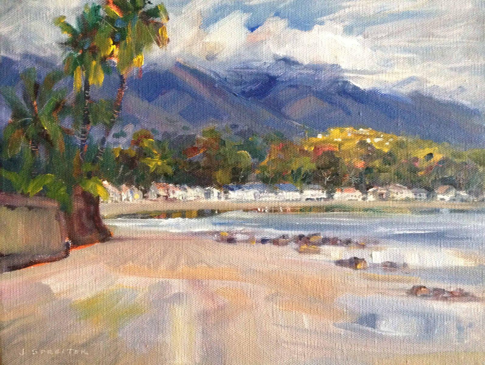 Miramar Beach After Rain, Santa Barbara
