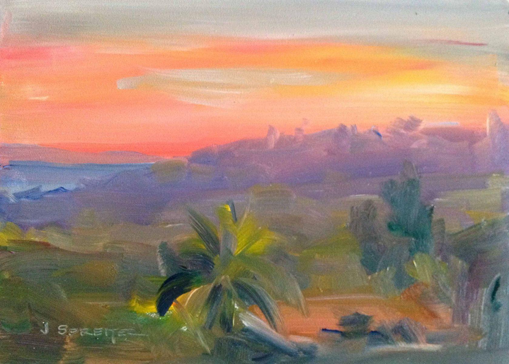 Santa Barbara Riviera Sunset