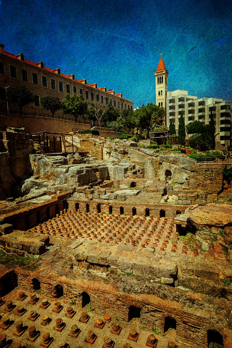 Roman bath ruin