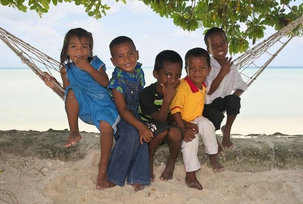 Optimistic Kiribati children
