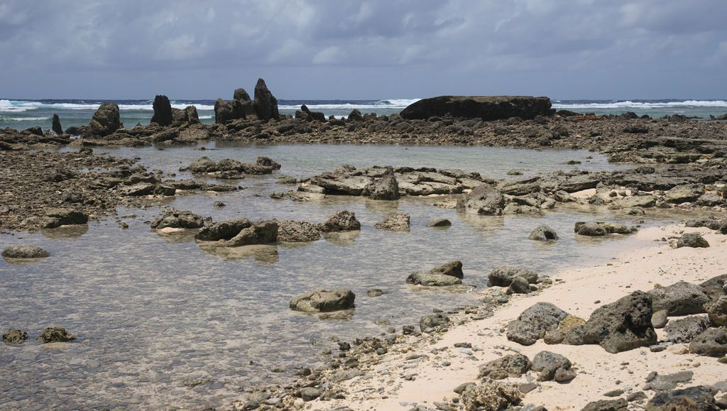 Remnant of seawalls